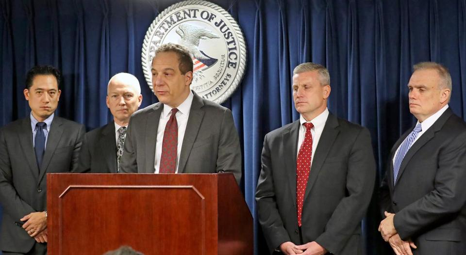 US Attorney William D. Weinreb addressed the media about the Joyce indictment.
